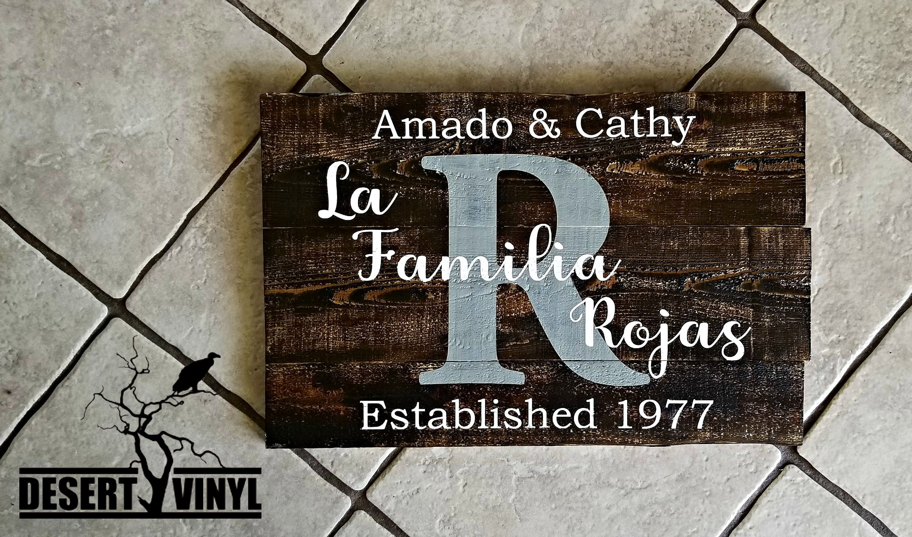Home Sign Familia Sign Name Established Sign Above Couch Decor Familia Sign Family Sign Spanish Decor Spanish Sign Family Decor