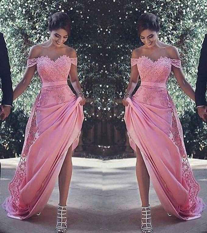 Elegant Off The Shoulder Prom Dresses,Lace Prom Dresses,Sexy Long ...