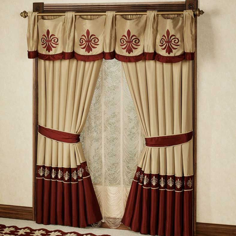 Curtains For Classic Living Room Or Home Design Interior With Window Treatments Italian Curtain Designs 787x787