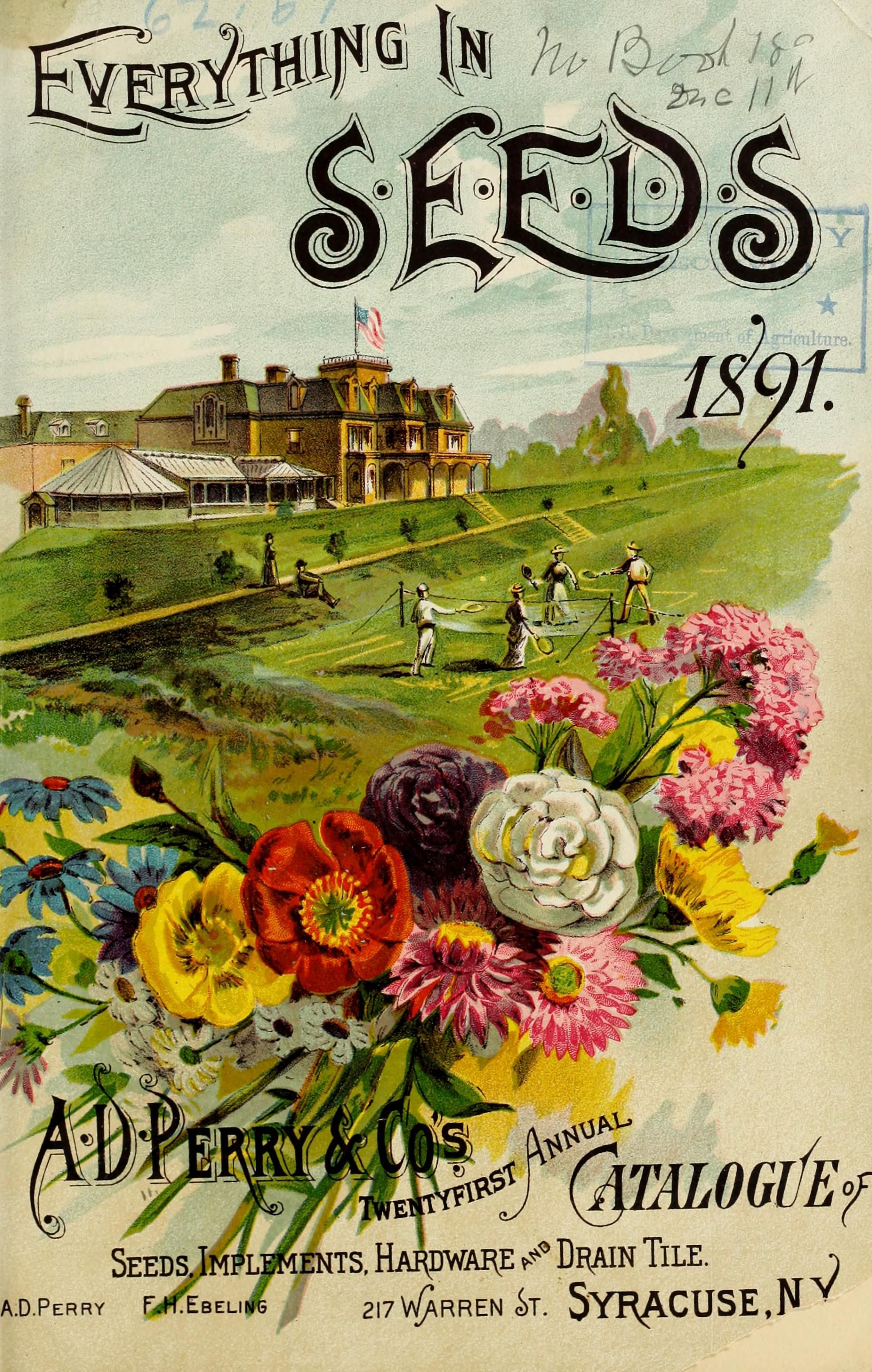 Ad perry cos twentyfirst annual seed catalogue for