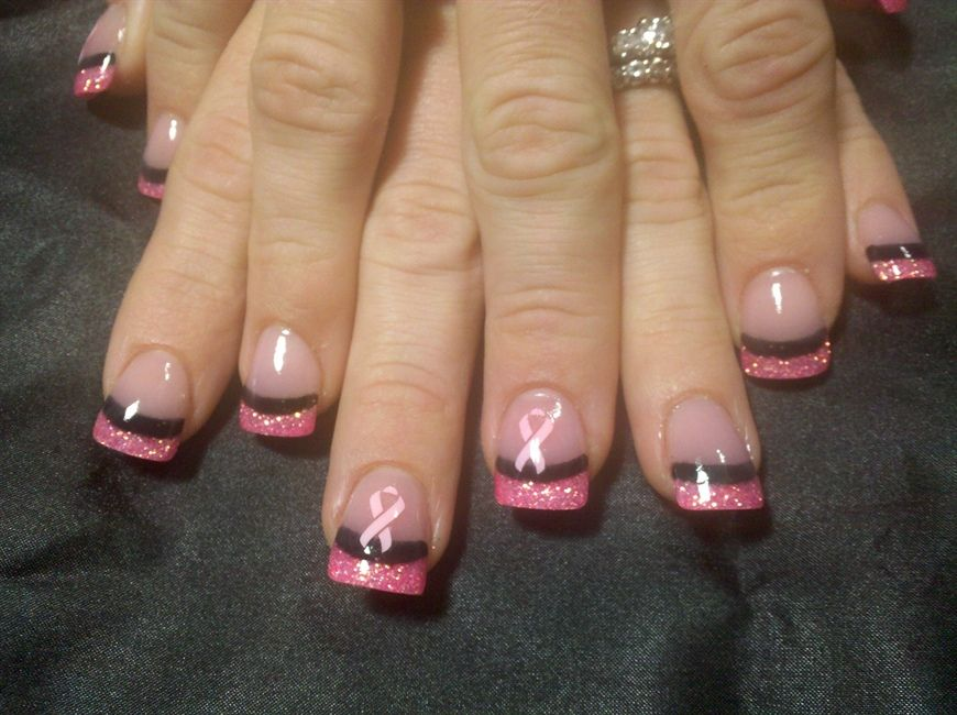 Breast cancer nails. Or change the color to support awareness for ...