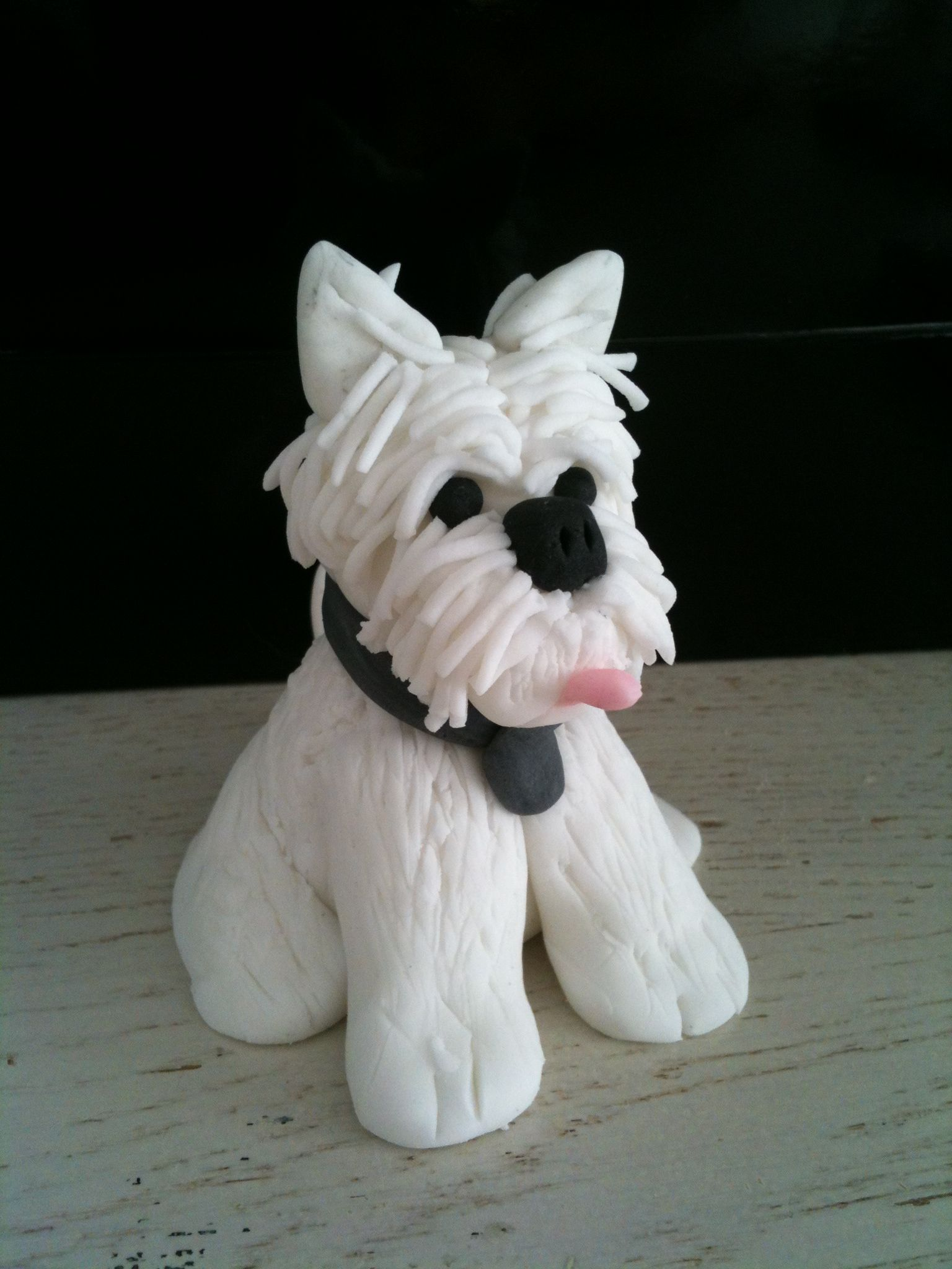 How To Make A Westie Cake Topper