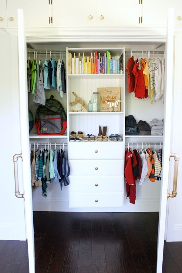 Closet Organization For a Little Boy's Room images
