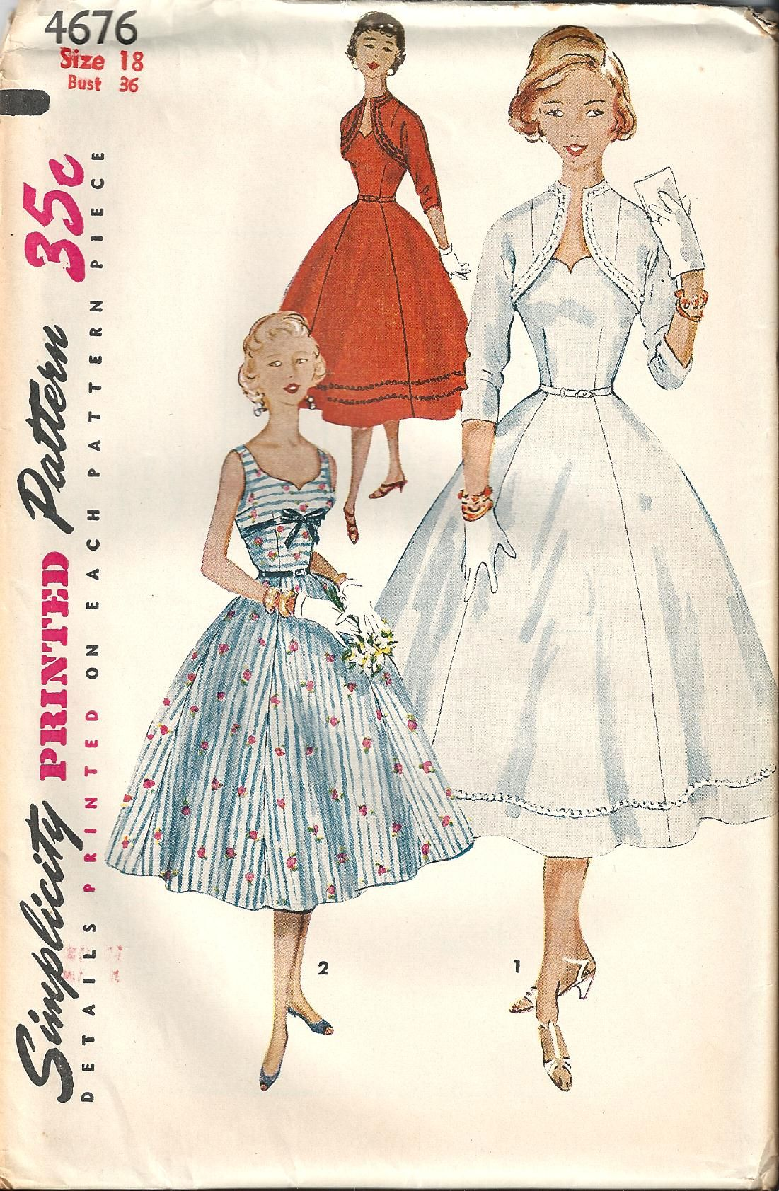 vintage wedding dress patterns Vintage Sewing Pattern Dress Simplicity