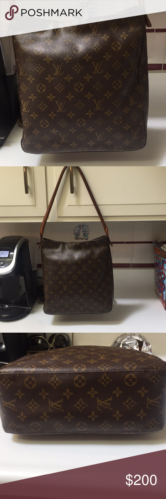 LAST PRICE Authentic Louis Vuitton Shoulder Bag This bag is an older Louis  Vuitton. The inside of the bag has peeling and the pocket inside is torn.  You ... d6a0f81589ad8