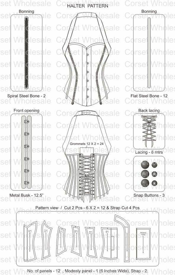 Corset pattern | Corsets | Pinterest