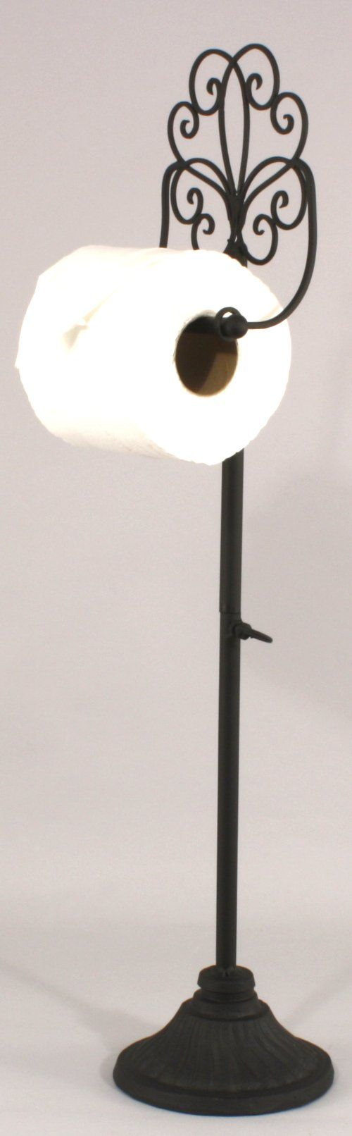 Black Wire Freestanding Toilet Roll Holder