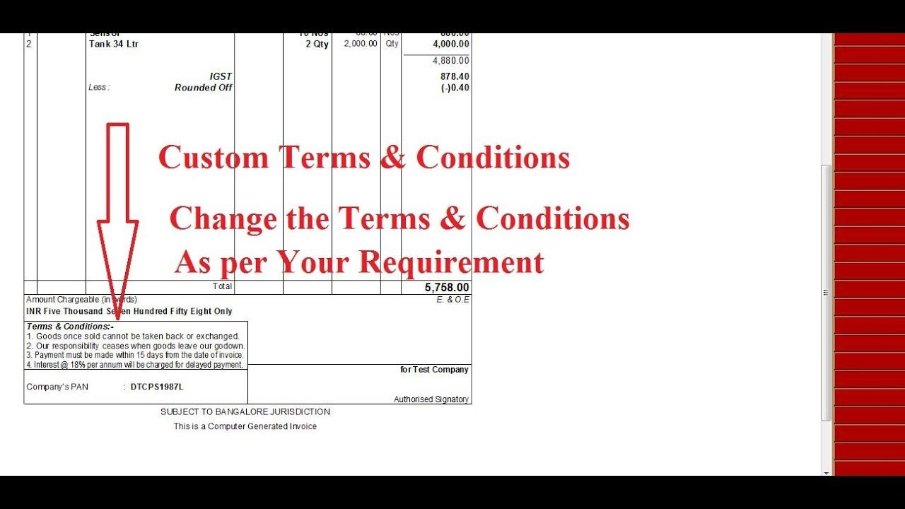 Tally TDL for Custom Terms and Conditions Tally Add on for Custom
