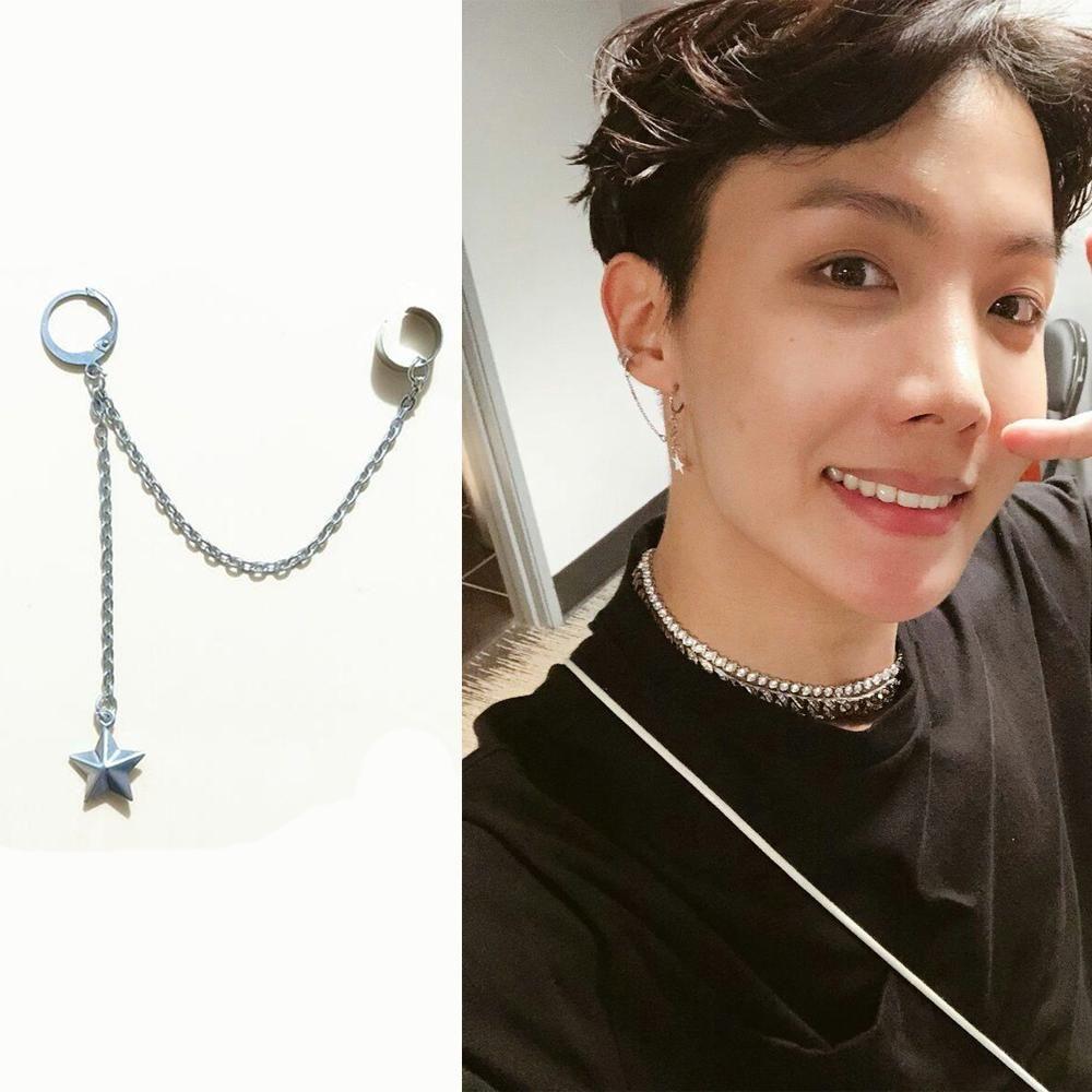 Bts 1pcs J Hope Star Earring Ear Jewelry Bts Earrings Kpop Earrings
