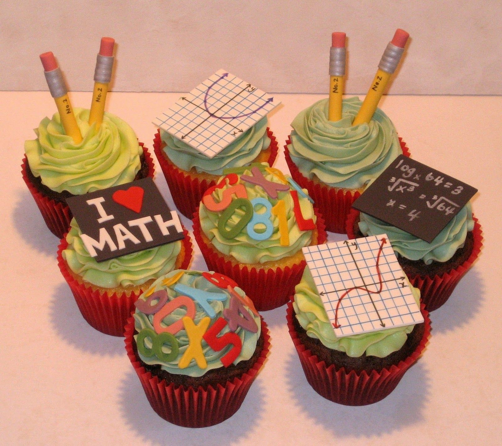 Teacher cupcakes CakeSchool Days Pinterest