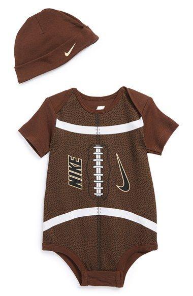 Nike Football Bodysuit & Hat (Baby) | Nordstrom