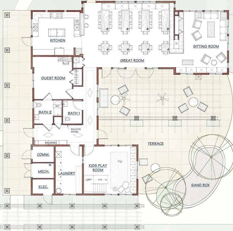 La Querencia Commhouse Floor Plan Click Image For Source