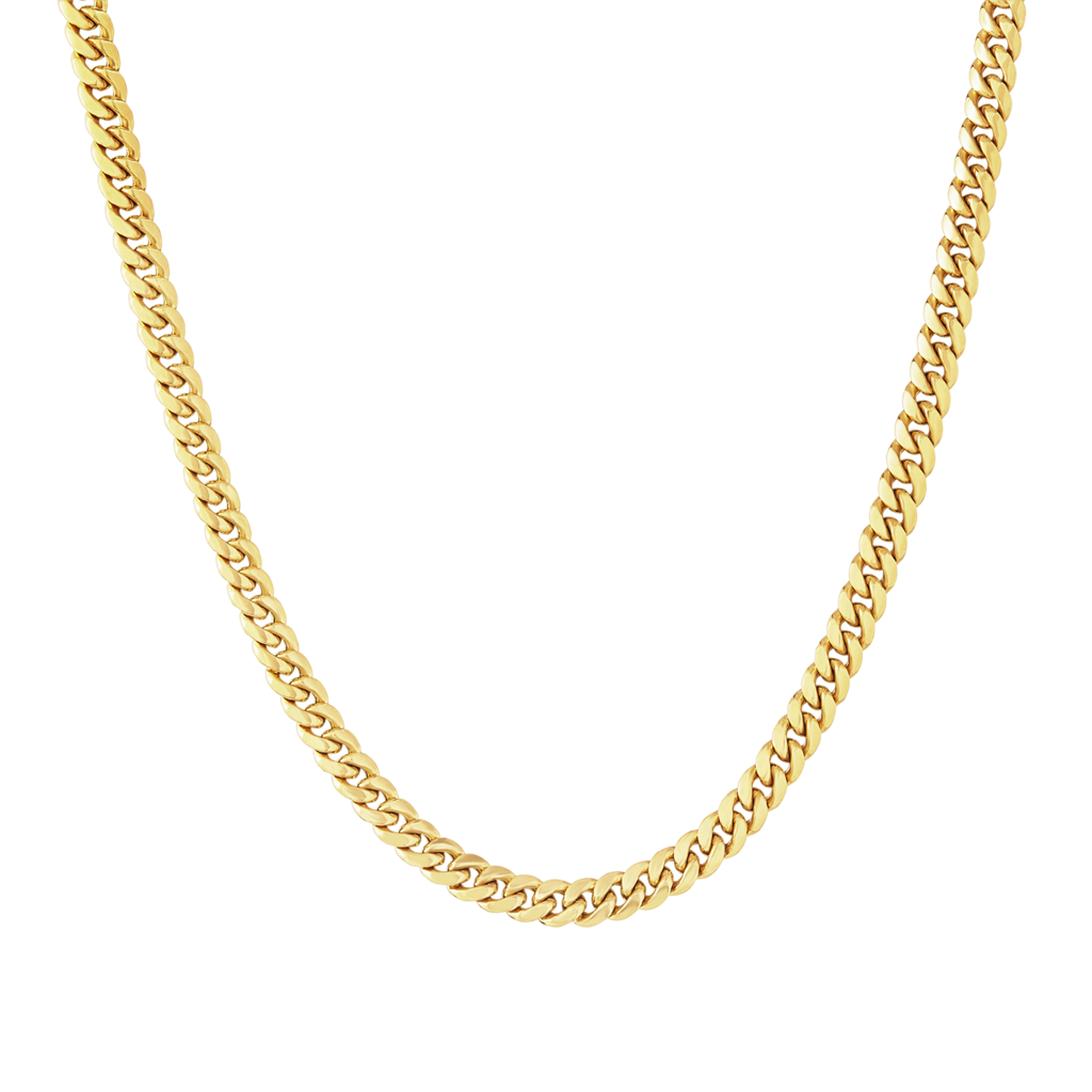 14k Gold Hollow Miami Cuban Link Chain 7mm Icelink Cuban Link Chain Miami Cuban Link Chain Initial Necklace