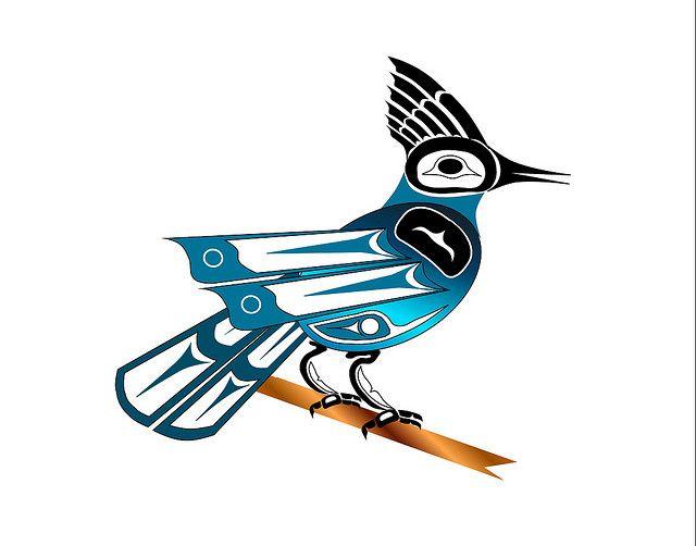 Stellar Jay   by Haida Point Art, via Flickr