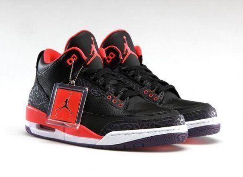 low priced c09c9 cd4ea Mens Nike Air Jordan Retro 3 BRED Basketball Shoes Black ...