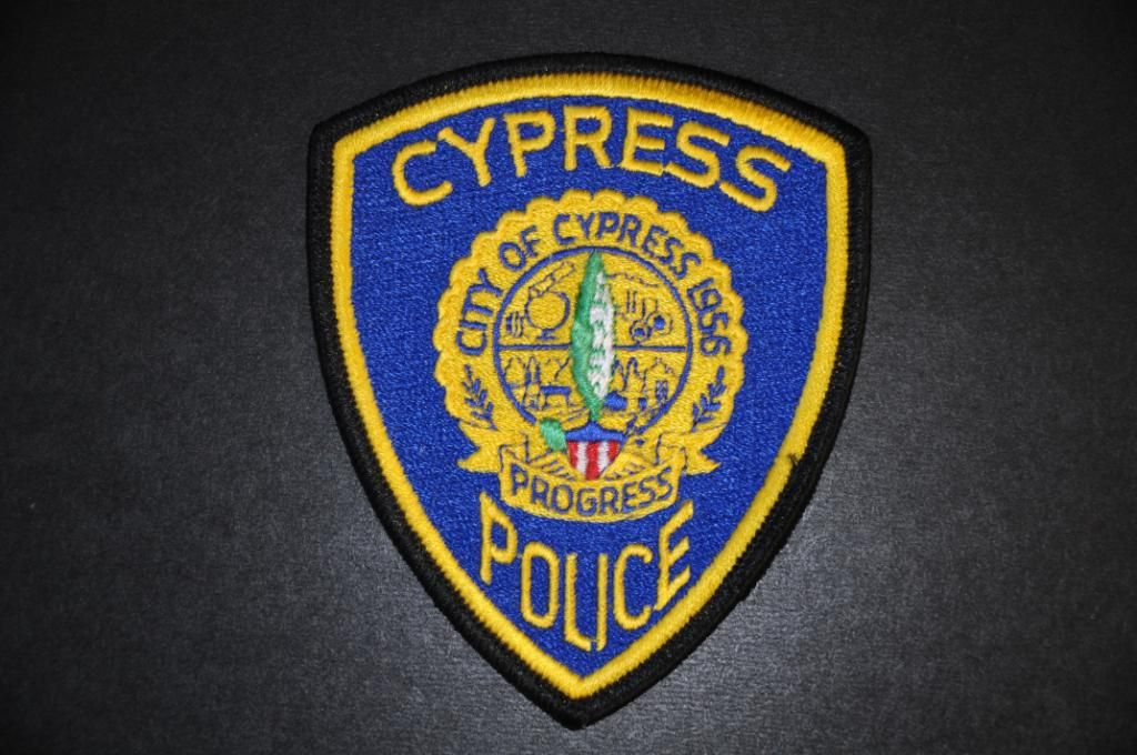 Cypress Polce Department Police Patches Police Police Badge