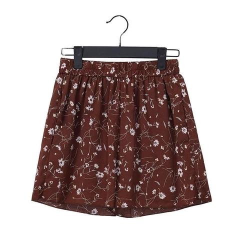 loose boho floral chiffon shorts