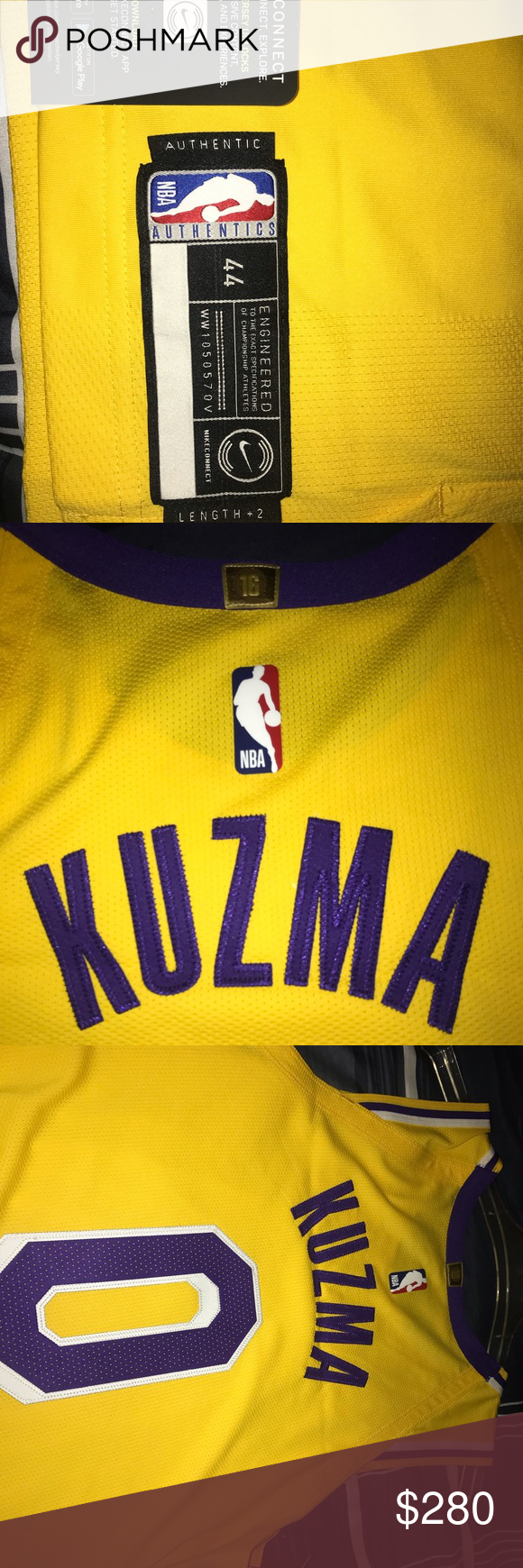 reputable site 218ef 57230 Authentic Kyle Kuzma Lakers Jersey Authentic on court pro ...