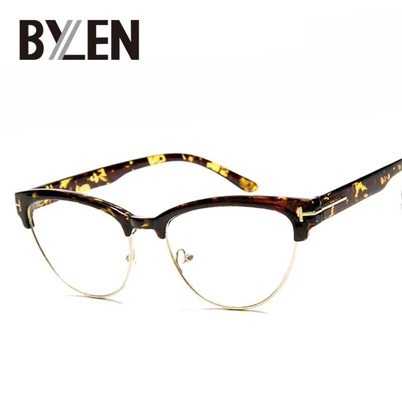 03d916329d396 New style Cat eye glasses for women Retro brand designer eyeglasses frames  Clear Lens Vintage T type oval Eyewear oculos de grau  style  fashion ...