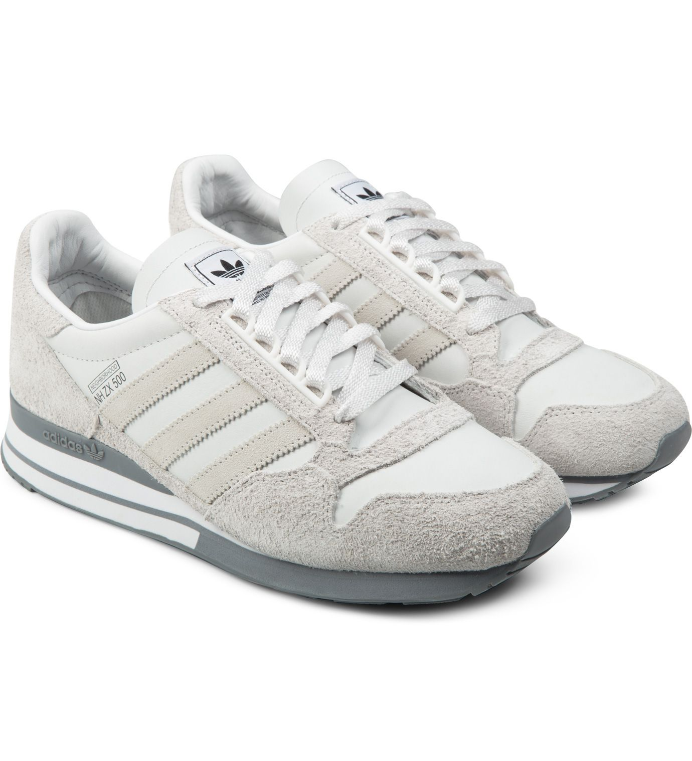 5c875366ddf74 ... discount code for adidas originals neighborhood x adidas originals neo  white grey nh zx 500 og