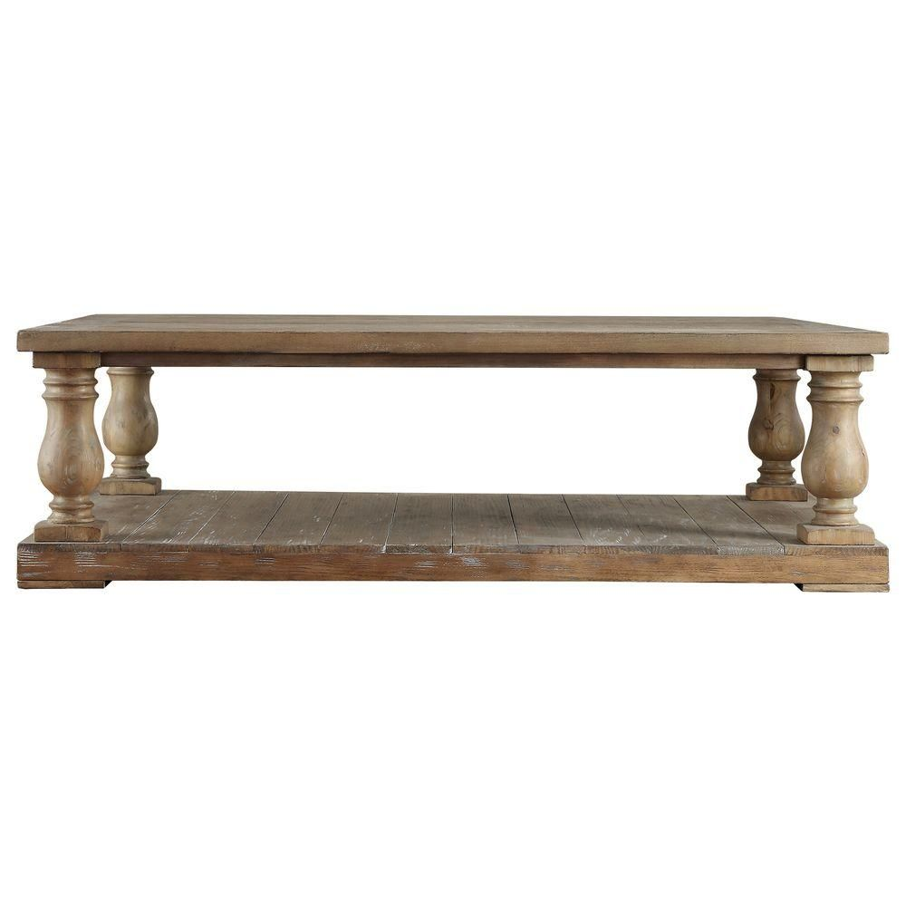 The Living Room Malvern: HomeSullivan Malvern Hill Distressed Pine Coffee Table