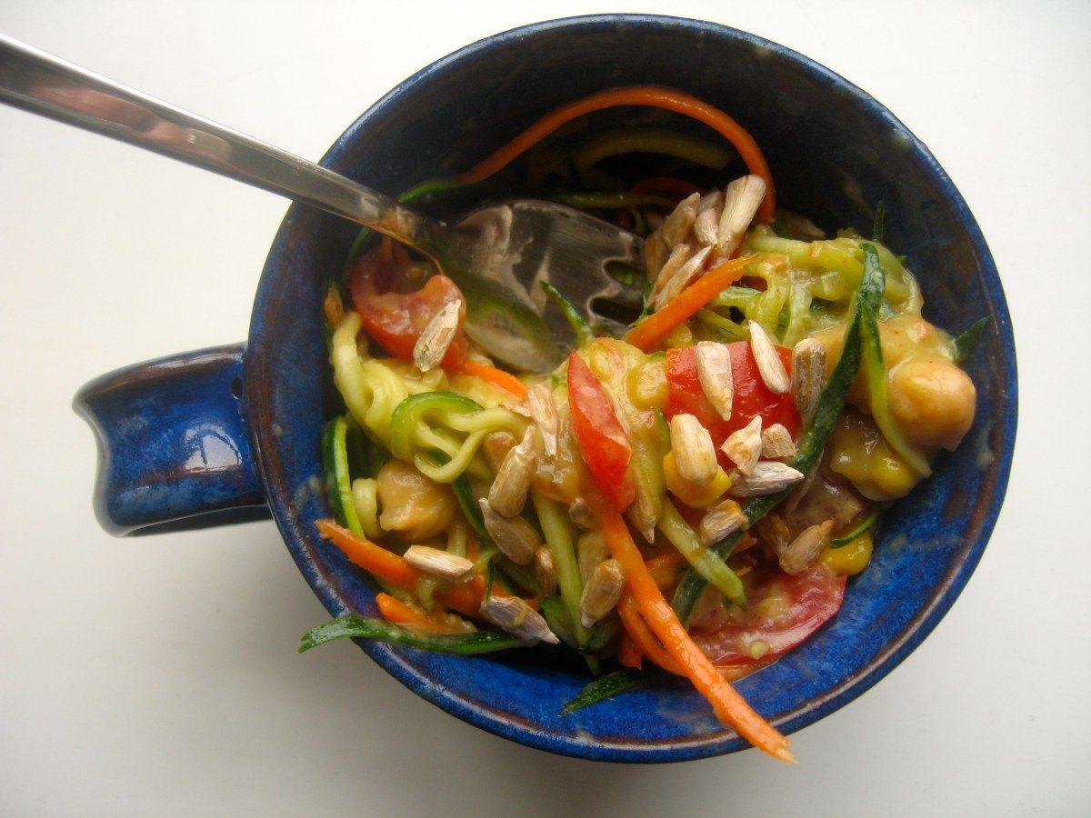 {Making Voodles} A Tasty Voodle Salad with Avocado Dijon Dressing
