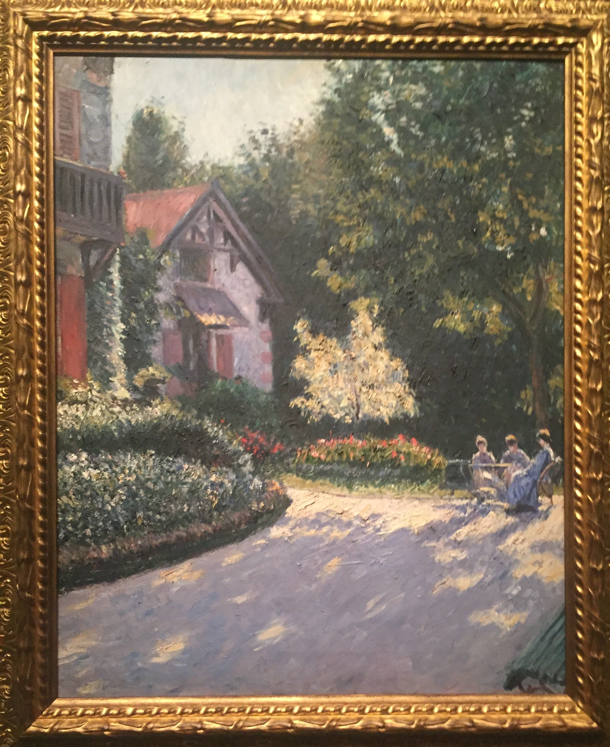 new product b5a47 aff0f Gustave Caillebotte, Le jardin du Petit Gennevilliers ...