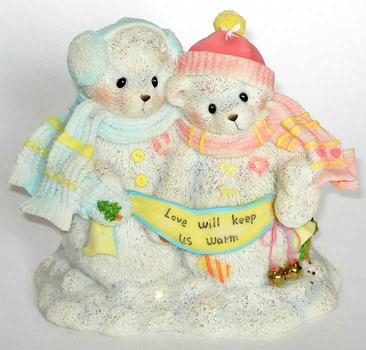 Heidi´s Cherished Teddies Galerie: HAYWARD and EFFIE - Love Will Keep Us Warm (4002841)