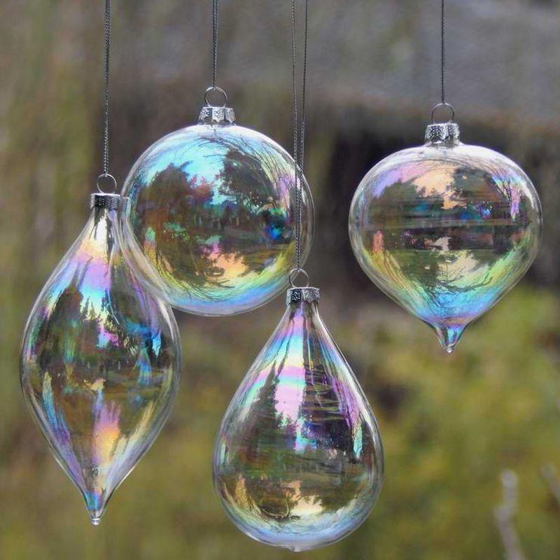 01 Vidrio Tornasol Bolas De Navidad Transparentes Pinterest - Bolas-de-navidad-transparentes