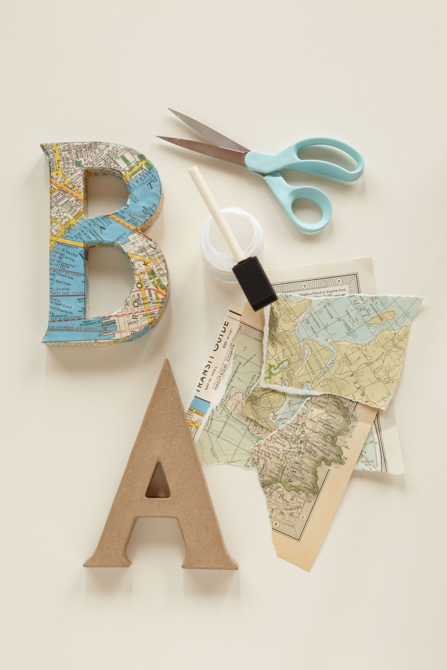 journey of love decoupage letters use vintage maps and cut out letters to spell