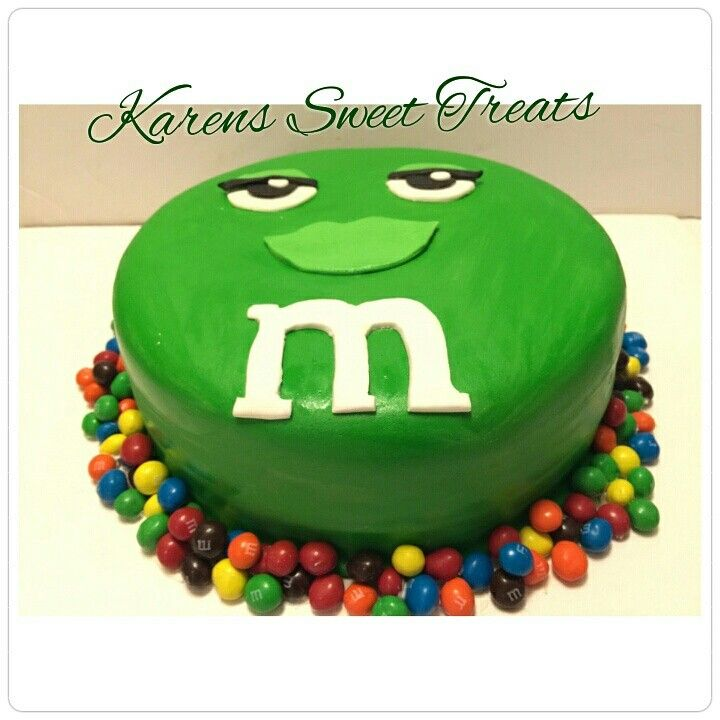 Green MM Cake 3D Custum Order Cakes Pinterest Order cake and Cake