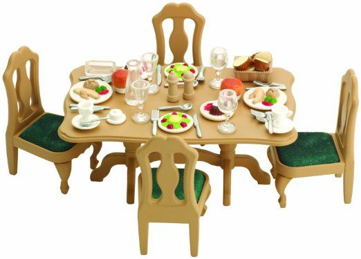 Amazon Sylvanian Families Dining Room Set Doll Furniture Toys Games