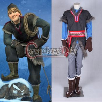 Custom Made Frozen Kristoff Costume Outfit Adult Movie Cosplay Costume For  Halloween Party