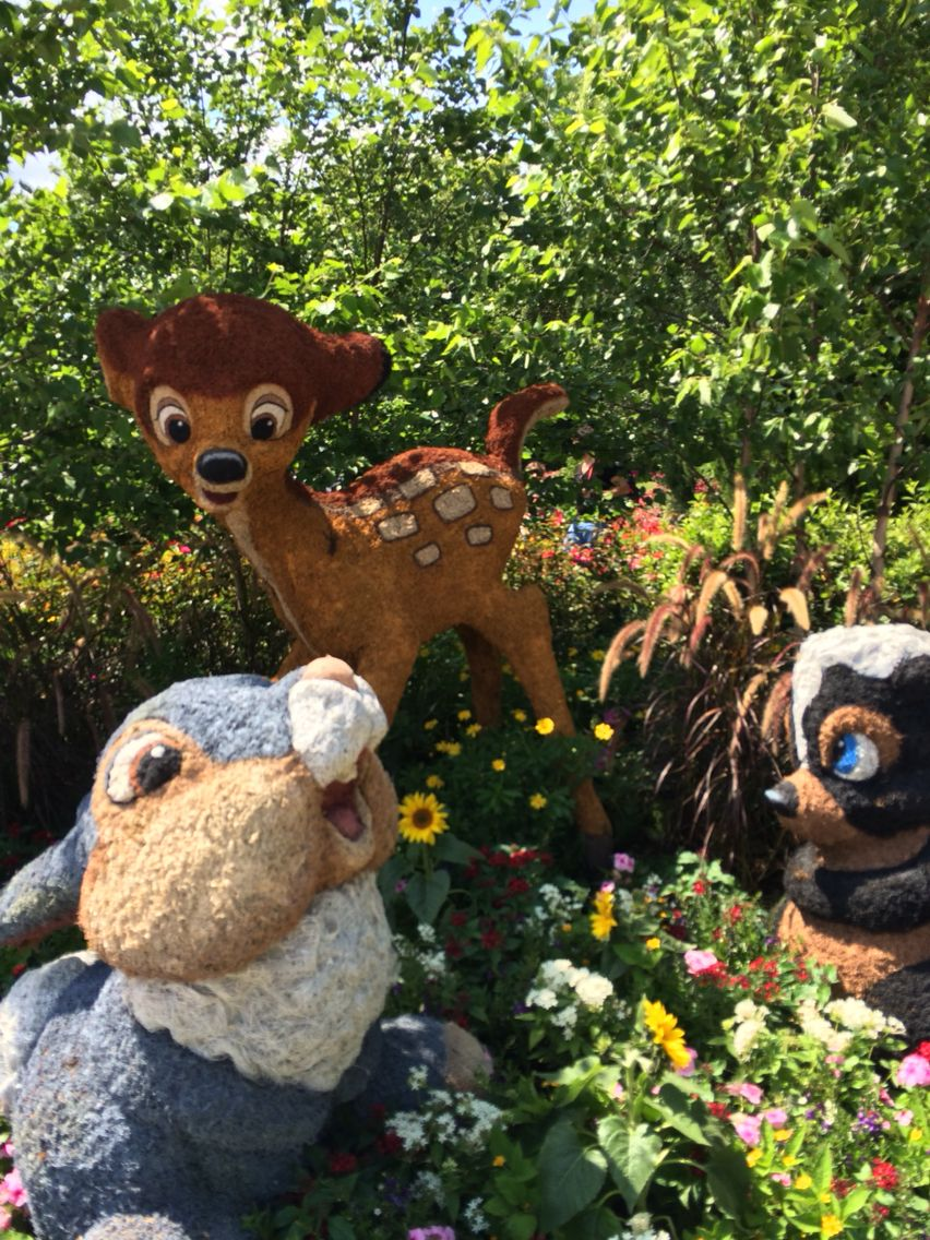 Bambi Display in Epcot! Flower and Garden Festival | Disney\'s Epcot ...