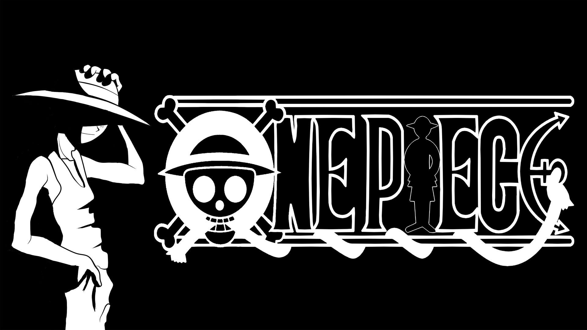 One Piece Black And White Anime Wallpaper For Desktop 528203838