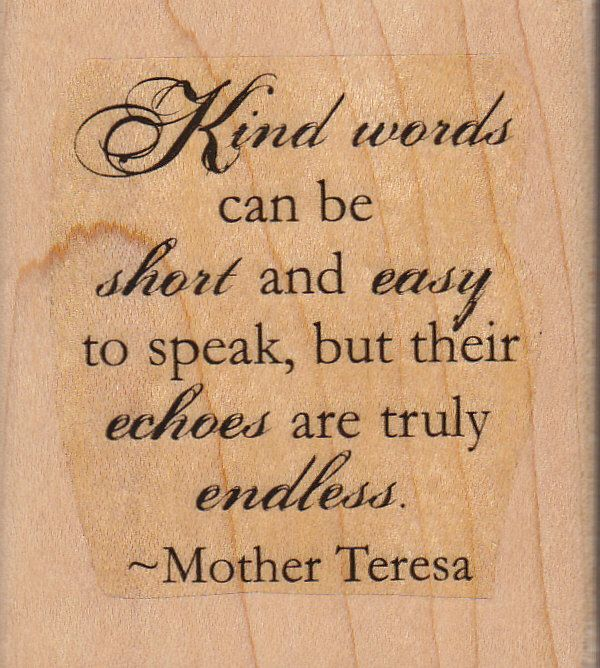Just Reduced Echoes Of Kindness Mother Teresa Quote Flowers