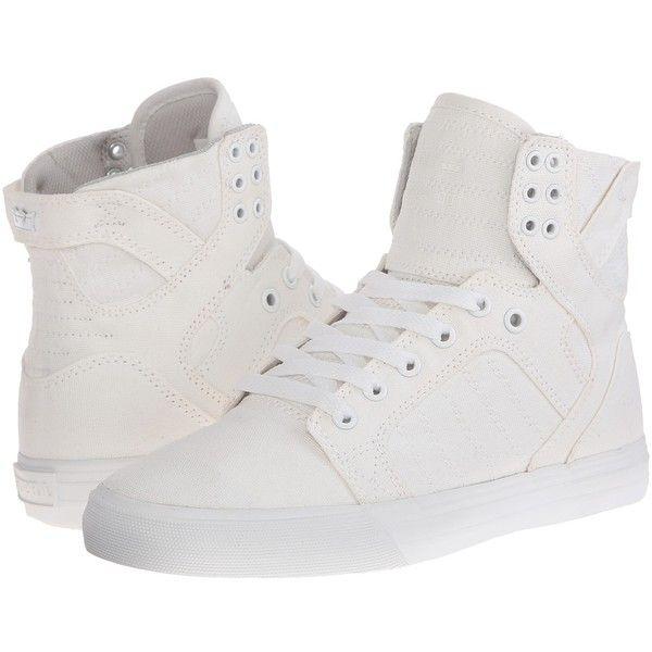 Supra Skytop D Women's Skate Shoes Off White Canvas : 10 B - Medium