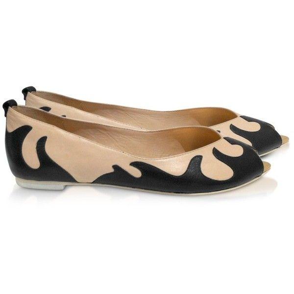 McQ by Alexander McQueen McQ - Black Flame Ballerina Shoes