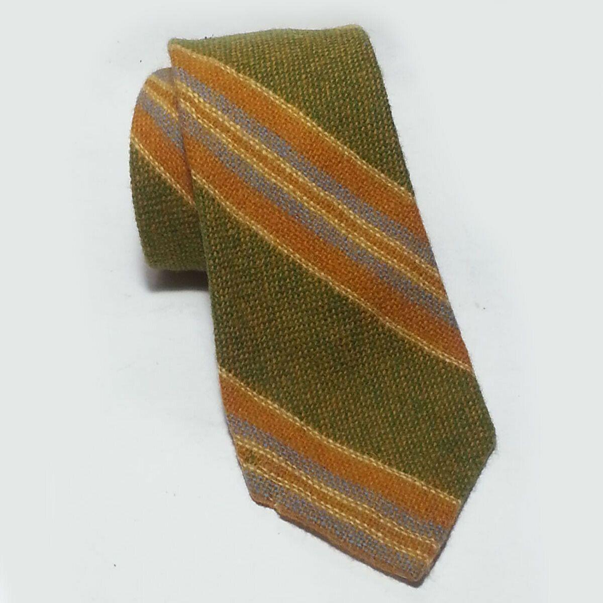 Alexander Julian Men Neck Tie Paisley Striped Black Brown 100/% Silk Polyester
