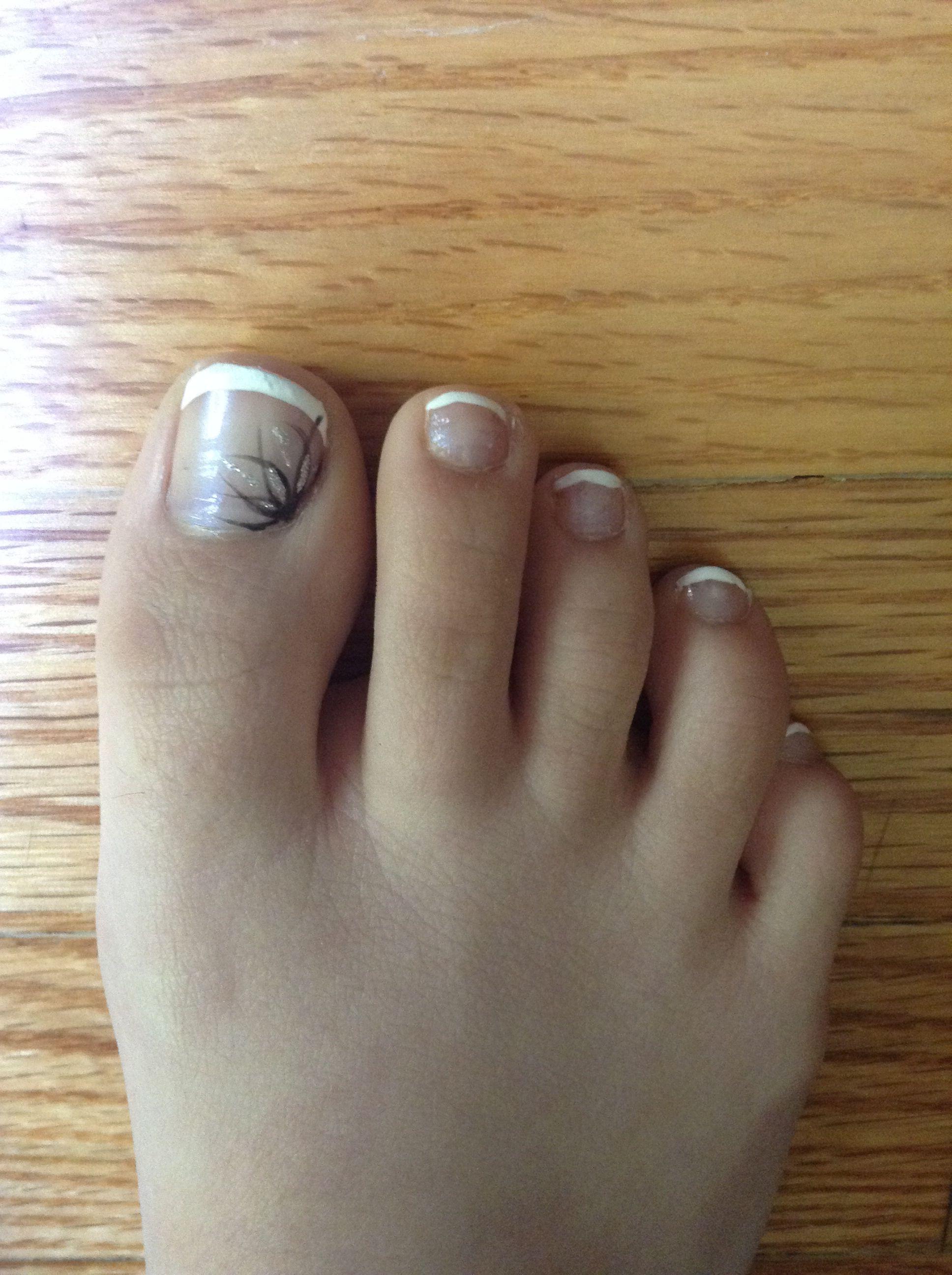 Simple toe nail design   Beauty/nails   Pinterest   Simple toe nails ...