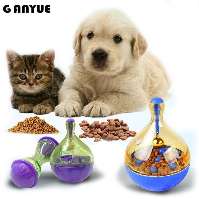 Ganyue Tumbler Cat Dogs Toys Food Hide Ball Toys Puppy Kitten