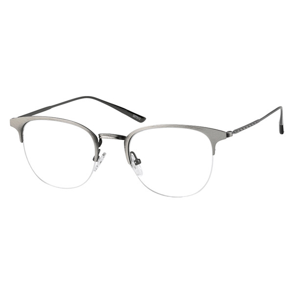 9a34812980 Zenni Vintage Browline Prescription Eyeglasses Gray Stainless Steel 327312