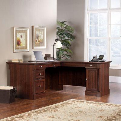 Sauder Palladia Office Desk With Locking Drawer Wayfair Home Office Furniture Home Office Desks L Shaped Desk