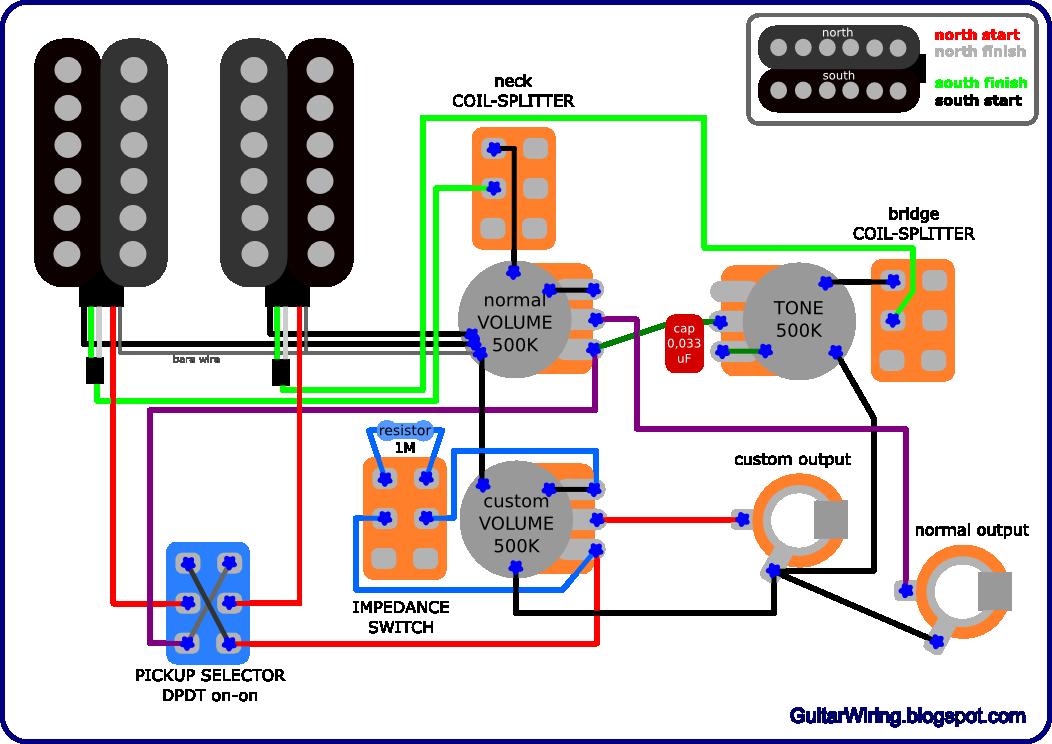 Epiphone Les Paul Guitar Wiring Diagram !
