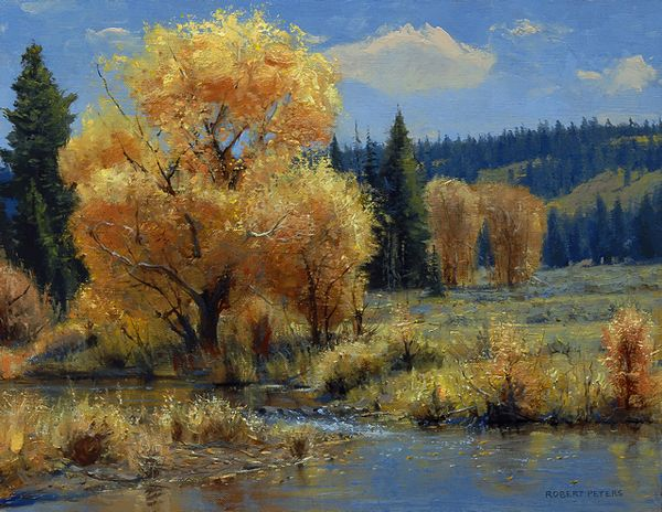 Landscape Painting By Robert Peters Painting Fine Art Painting Oil Landscape Paintings