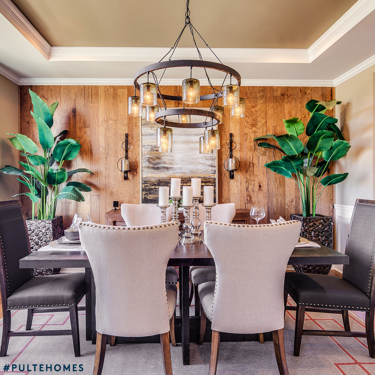 Turn your dining room into a stylish sanctuary by adding large turn your dining room into a stylish sanctuary by adding large leafy greens to your dzzzfo