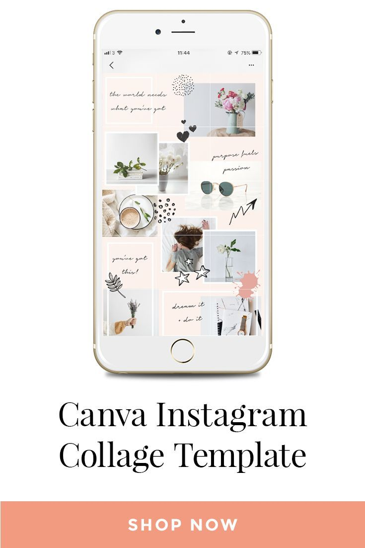 Canva Instagram Collage Template For creating the