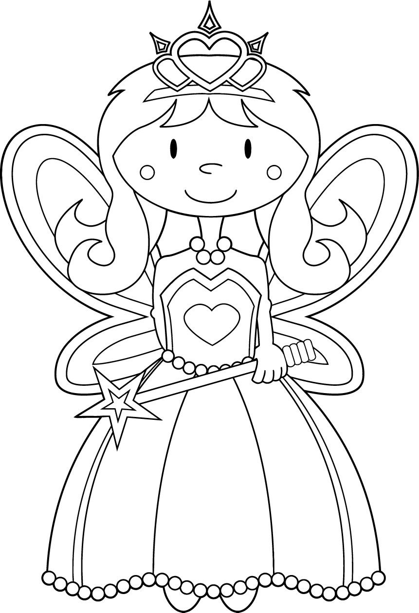 Pin By Daisy Wijte On Gateau Anniversaire Fairy Coloring Princess Coloring Pages Fairy Coloring Pages