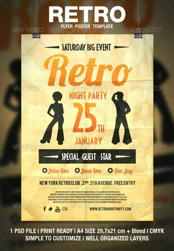 Retro Typography Flyer / Poster | Retro Typography, Typography And