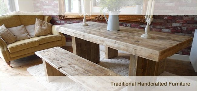 Rustic Oak Dining Tables Chairs And Benches From Ninas Country Within Wood Bench Table Prepare